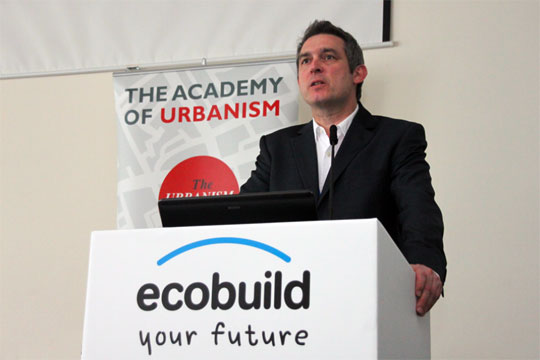 Kevin Murray addressing the Ecobuild AoU Event